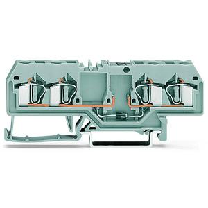 281-665/281-400, Bauelementklemme 4 Leiter mit Diode 1N5408 Anode links 4 mm² grau