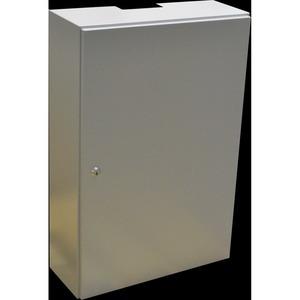 Antennenschrank 400x600x150mm, Einfachverriegelung, Pressspanmontageplatte