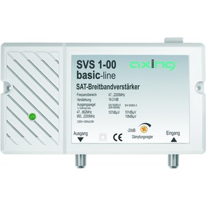 Breitbandverstärker, 18-25 dB, 47-2200 MHz, max. 20 dB Dämpfung einstellbar