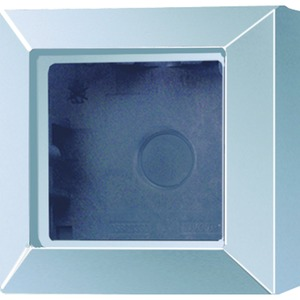 AS 581 A AL, Aufputz-Kappe, 1fach, integrierte, flammwidrige Bodenplatte, angeformter Rahmen