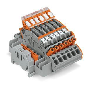 Klemmenblock für 3-phasige Stromwandlerschaltung mehrfarbig