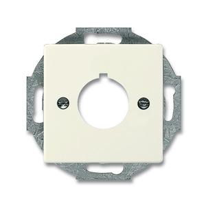 2533-82, Zentralscheibe, elfenbeinweiß, carat, Abdeckungen für Datenkommunikation