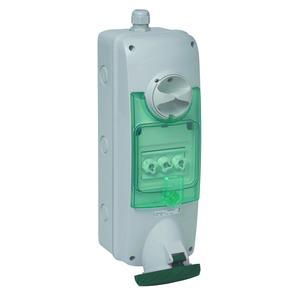 Anbausteckdose verriegelt, 63A, 3p+E, 480-500 V AC, IP65