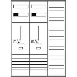 Komplett-Schrank ZFH/3Pkt. BW
