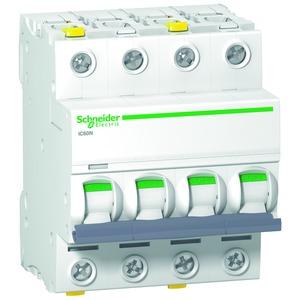 Leitungsschutzschalter iC60N, 4P, 6A, D Charakteristik