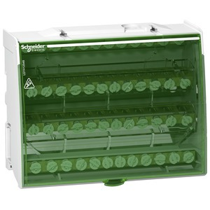 Klemmenblock Linergy 125A, 4-polig, 4 x 12 Stück Schraubanschlüsse