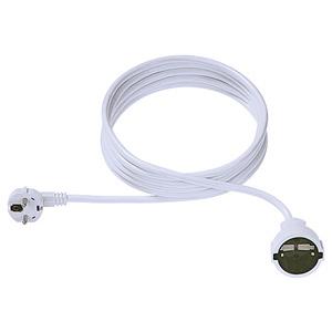 HECW41.5, Schutzkontakt-Verlängerung HECW41.5, weiss, 3G1.50 mm², 2 m