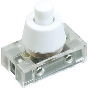 Druckknopfschalter Serie 8001, Ausschalter, 1polig, weiß