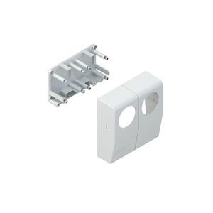 5042.6, CENTRIC-Geräteeinbautank, 125x120x43 mm, Kunststoff ASA, RAL 9001, cremeweiß