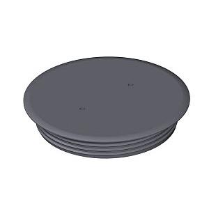 BAB80 7011, Blindabdeckung ohne Bodenbelagaussparung, PA, eisengrau, RAL 7011