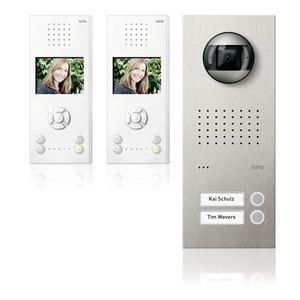 Acero pur Video-Set Freisprechstelle 2 WE, edelstahl/weiß
