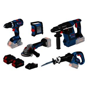 5 TLG SET 18V, 5 Akku-Geräte: GSB 18V-60C, GWS 18V-10 C, GBH 18V-26, GSA 18 V-LI, GLI 18V-1200C