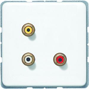 MA CD 1031 WW, Cinch Audio und Composite Video, Tragring, Schraubbefestigung, bruchsicher