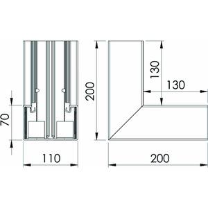 GK-I70110RW, Inneneck 70x110mm, PVC, reinweiß, RAL 9010