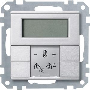 Raumtemperaturregler mit Display, aluminium, System M