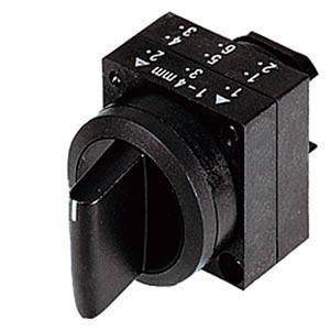 3SB3000-2HA61, Knebelschalter, 22mm, rund Kunststoff, weiß