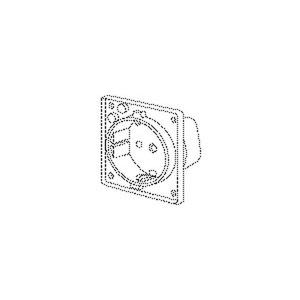 5100.3, Schutzkontakt-Steckdose, Nennspannung 250 V/16 A, ohne Kinderschutz, RAL 9010, reinweiß