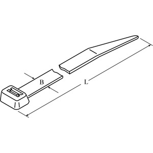 DTST-0550-R-WH-66-V, DIS-TY Kabelbinder 8x550 weiß Standardausführung Preis per VPE  VPE =100