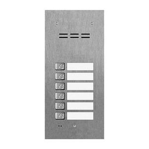 VT100TA2-6, Türsprechstelle für Mehrfamilienhaus, 6 Ruftasten, Edelstahl, Video-Türsprechanlage VT100