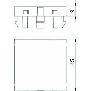 ADP-B RW1, Blinddeckel 1/1 Modul 45x45mm, reinweiß, RAL 9010