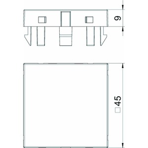 ADP-B AL1, Blinddeckel 1/1 Modul 45x45mm, alu lackiert