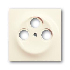 1743-03-72, Zentralscheibe, elfenbein/weiß, impuls, Abdeckungen für Datenkommunikation