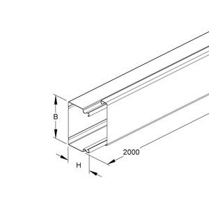 LUK 100.100, Leitungsschutzkanal mit Deckel, 100x100x2000 mm, ohne Bodenlochung, Stahl, bandverzinkt DIN EN 10346