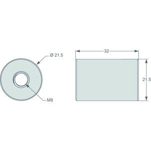 Zylinder Ø 8,5mm, für Stromwandler TI