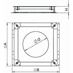 UGD 250-3R4, Unterflur-Gerätedose 250-3 für GESR4 410x367x70, St, FS