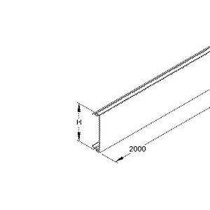BO80.5, Gerätekanaloberteil, 80x2000 mm, Kunststoff PVC-hart, RAL 8014, sepiabraun