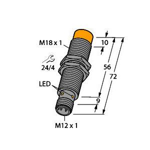 TN-M18-H1147, Schreib-/Lesekopf, BL ident®