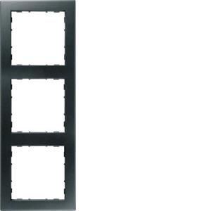 3-fach Rahmen PUR, anthrazit