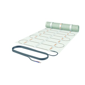 252-NST5-105, Fussbodenheizung robust für Innen und Aussen, 0.5 m², 50 x 105 cm, 126 W, 230V