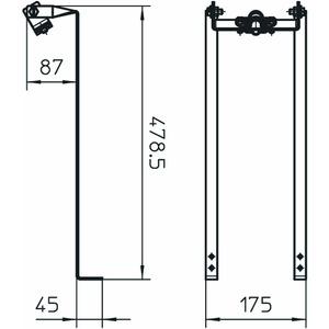 SD-Fix, Stangenhalter für Schrägdächer Rd16, V2A, 1.4301
