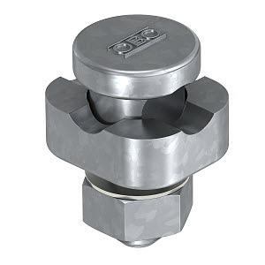 5001 DIN-FT, Verbindungsklemme für Rundleiter 8-10mm, St, FT