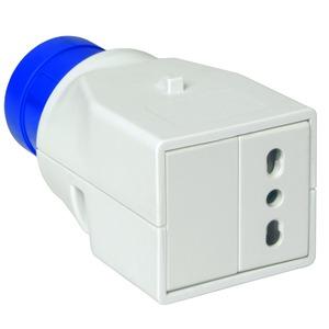 Adapterstecker PK, CEE, 1 Steckdose, für Italien, 16A, 2p+E, 230V AC