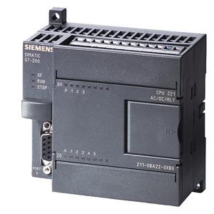 6ES7211-0BA23-0XB0, SIMATIC S7-200, CPU 221 Kompaktgerät, AC Stromvers. 6 DE DC/4 DA, Relais-Ausgänge, 4 KB Progr./2 KB Daten
