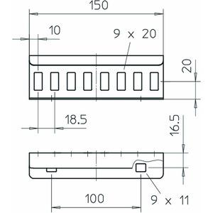 LVG 45 FS, Längsverbinder für Kabelleiter 49x150, St, FS