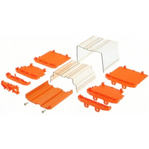 PF RS 100 OR 2000MM A.1, Elektronikgehäuse, RS 100 orange, Strangprofil, Breite: 104 mm