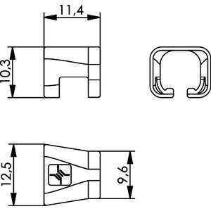 B00081A0050, Farbmarkierungsclip für umspritzte RJ45 Patchkabel, für Tüllen an Kabel mit Durchmesser 5,5 - 5,8 mm, blau
