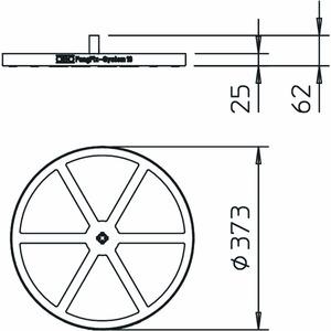 F-FIX-B16, Basissystem für FangFix 16kg, PP