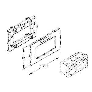 KES-2.3.20, Geräteeinbausystem,vorkonfektioniert,Einbaubreite 138,5 mm,NV=250V/16A, Einsatz, RAL 6029, minzgrün, Abdeckung, RAL 9010