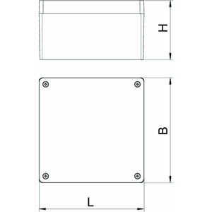 Mx 161609 SGR, Aluminiumleergehäuse 160x160x91, AlG, P, silbergrau, RAL 7001