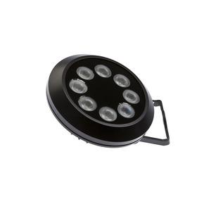LED Maschinenleuchte, Ø160mm 57lang, kaltweiß, 24W 40°, 18000lx, 5500K, 50°C, M12-Stecker 4polig, ...