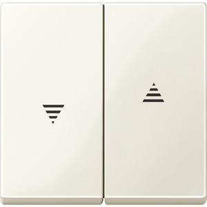 Wippe für Rollladenschalter und -taster, weiß glänzend, System M