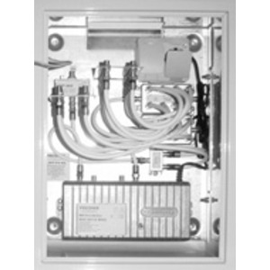 BK-Montageschrank kplt. mit Verstärker + 16-fach AZ