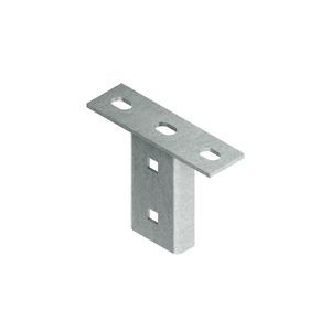 KU 50, Schraubkopfplatte für Profil U 50, Stahl, feuerverzinkt DIN EN ISO 1461, inkl. Zubehör