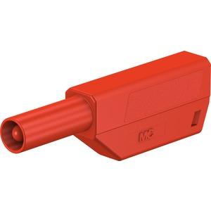 SLS425-SE/M, 4mm Einzelstecker komplett rot