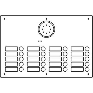 Acero Edelstahl-Türstation Audio, 20 WE, Audio, Edelstahl