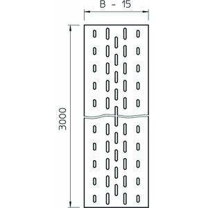 ELB-L 20 DD, Einlegeblech gelocht, für Kabelleiter 200x3000, St, DD